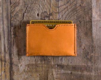 Leather wallet Natural leather, credit card holder, business card holder, slim wallet, travel wallet, cardholder in leather, minimal wallet