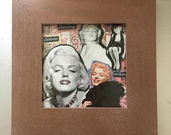 Marilyn Monroe framed collage