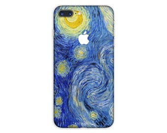 Starry Night Galaxy iPhone Skin Art iPhone Sticker Case Van gogh iPhone Decal iPhone 7  plus iPhone 6 iPhone 6s 6 plus 5 5s SE PS019