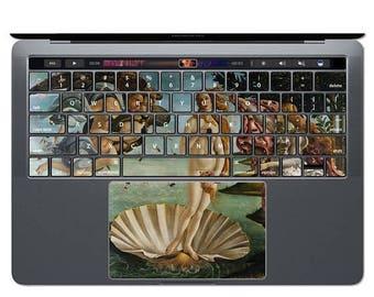 ON SALE MacBook Keyboard Birth Of Venus MacBook Skin Decal Art MacBook Sticker Painting Keys MacBook Air MacBook Pro Trackpad 13 15 Botticel
