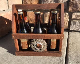 Bicycle Parts Beer Caddy Father's Day Birthday Gift
