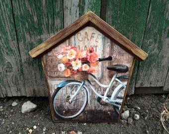 Key Holder For Wall, Key Holder, Wall Hooks, Key Wall Holder, Vintage Key Holder, Wall Hanging, Key Hanger, Bicycle Paris Provence
