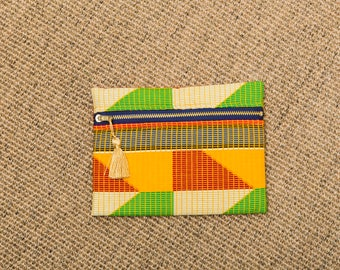 Kente-like padded multi-use pouch