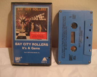 BAY CITY ROLLERS its a game cassette tape