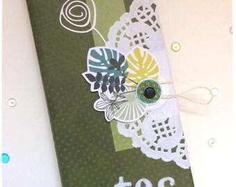 Notebook - green centerpiece gift