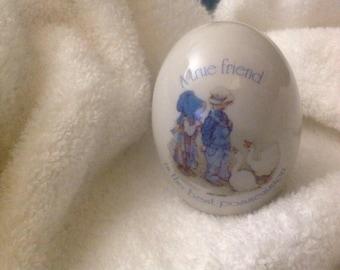 Vintage Holly Hobbie Egg-Holly Hobby, ceramic-1973