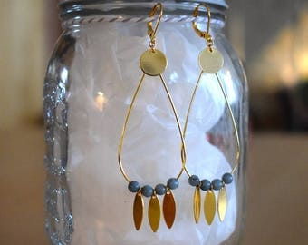 Teardrop dangle earrings gold plated
