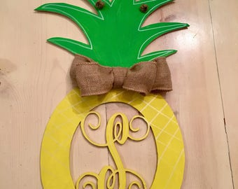 Pineapple/Summer Initial Doorhanger