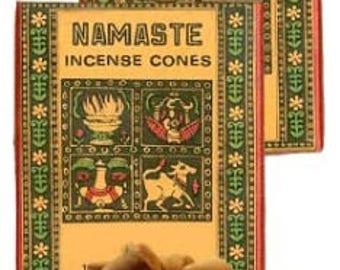 Namaste Nag Champa Incense Cones (1) box of (16) cones
