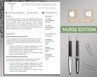 Compliance Manager Resume Excel Nurse Resume Cv  Etsy Executive Resume Template Excel with Cosmetology Resumes  Resume Etiquette Pdf
