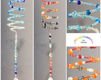 DROPS of ICE & FIRE - set of two spring spiral suncatchers