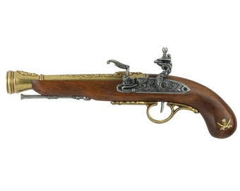 Left Handed Pirate Flintlock Blunderbuss Gold/Silver