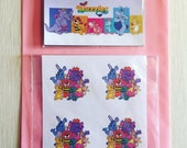 The Wuzzles Stickers & Magnet (Set)  1980s cartoon