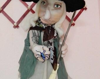 Art Doll  Halloween OOAK Doll.Handmade doll.