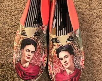 Peach Fridas Ballerina shoes