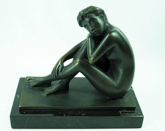 Eulalia Mones Bronze Sculpture-Puberty-Signed