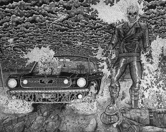 Ghost Rider and Mustang