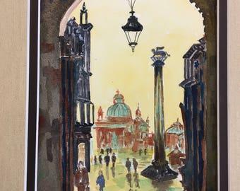 View of Saint Mark's Square, Venice // #Italian Art