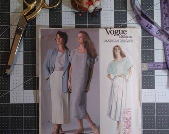 Vintage Vogue Pattern - 1980's - Perry Ellis - pattern 1858 - size 10