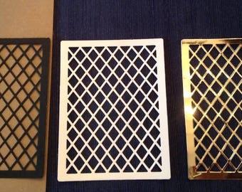 Diamond Lattice Panel (3) paper die cut embellishment