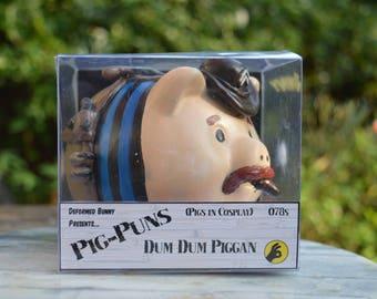 Dum Dum Piggan OOAK custom Piggy Bank/Money box (Pigs in Cosplay) SHIELD / The Howling Commandos