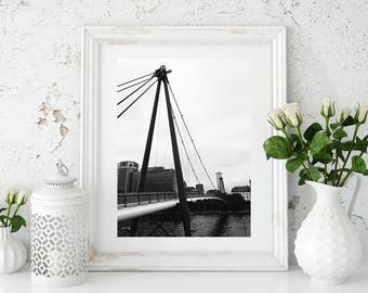 Black and White Photography, Black and White Wall Art, Printable, Printable Art, Explore Print, Instant Digital Download, Frankfurt, Germany