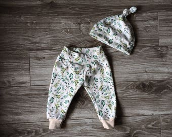 Going home outfit, boho baby outfit, newborn set, gender neutral baby