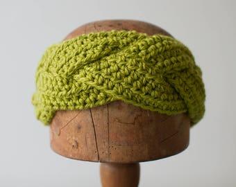 MYRTLE HEADBAND | modern chunky braided crochet earwarmer