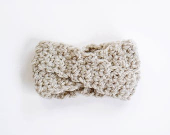 LITTLE SIGNE HEADBAND | modern chunky crochet earwarmer for newborns, baby, toddlers and children