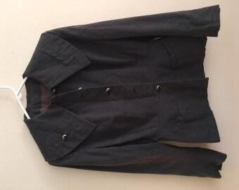 50s Wool Blazer Wide Collar