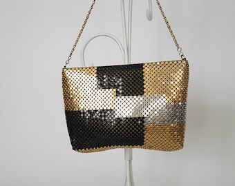 Metallic Mesh Shoulder Bag/Purse