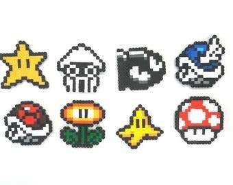 Mario Kart pixel art perler