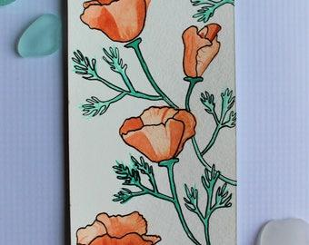 California Poppy Bookmark