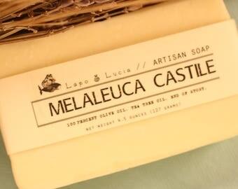 Melaleuca Castile   Artisan Soap   Handmade Soap