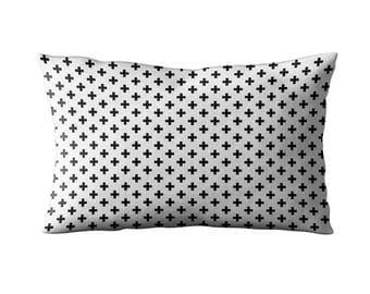 Swiss Cross Print Throw Pillow / Cushion