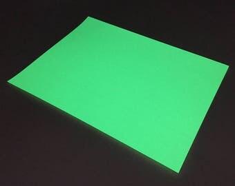 "Glow In The Dark Heat Transfer Vinyl Sheets 12"" X 9"" Easy Weed, PU, Polyurethane, Vinyl, HTV, DIY, T Shirt Vinyl, Heat Press Vinyl"