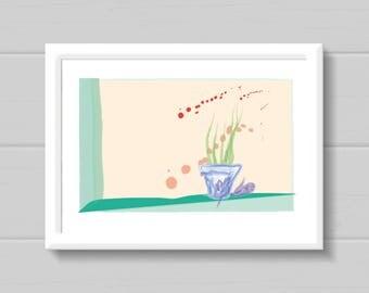 Open Window, Keep Calm Print, Art, Wall Art, Instant Download, Yoga