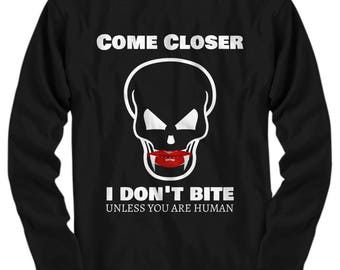 Vampire Skull Halloween tops -  October 31st Halloween party - Long sleeve, Sweatshirt, Hoodie, Zip hoodie