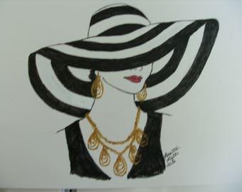 lady in a big hat
