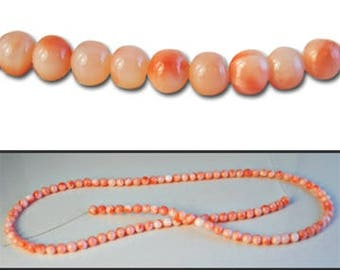 1 strand of 3/3.5mm Genuine Coral Beads (approx. 108 / Beads)