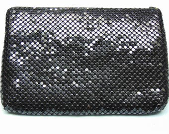 50's Vintage Black Mesh Clutch Carry This To Parties, Western Swing, Proms, Formals, Weddings, Graduations, And Holidays