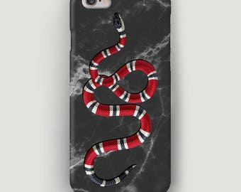 Black iPhone 6 Plus Case, Fashion iPhone 5S Case, Stone Phone Cover, Gucci Phone Case, Black Marble Case, iPhone 7 Gucci Case