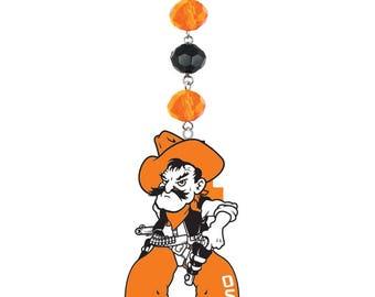 Oklahoma State University Pistol Pete *Logo* MAGNETIC Ornament, Osu Cowboys,Osu,Osu Ornament,Osu Pistol Pete,Osu Cowboys,OSU decor
