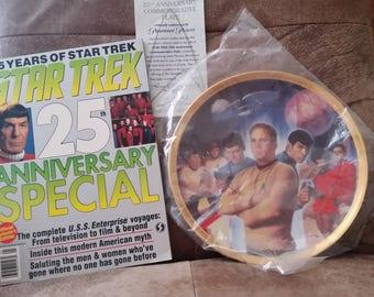 Star Trek Crew Plate for Twenty Fifth Anniversary