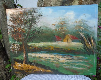 Original painting - oil depicting a landscape