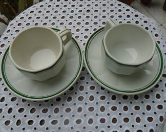 Coffee cups with Bar - brewery, restaurant China coffee cups - 60s