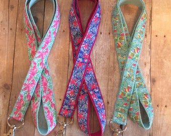 Lilly Pulitzer Lanyard, ID Badge, ID holder, necklace, lanyards, Badge clips