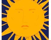 The Sun Tarot Postcard Print