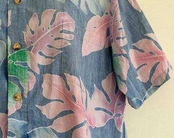 Hawaiian Style Leaf Funky Vintage Shirt