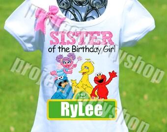 Sesame Street Sister Shirt, Sesame Street Birthday Shirt